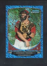 STRYKER TRAHAN 2013 BOWMAN CHROME RC ROOKIE CREAM CROP MINI BLUE WAVE SP #/250