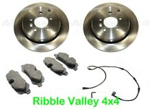 LAND ROVER DISCOVERY 3 + RRS REAR BRAKE KIT DISCS, FERODO PADS AND SENSOR KIT