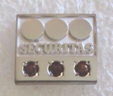 Vintage Securitas Security Company 3 Garnet Employee Service Award Pin