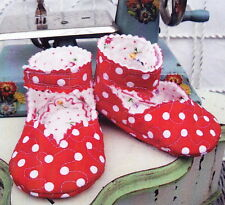 CLEARANCE - Quilted Baby Ankle Strap - Simple baby shoes PATTERN - Curbys Closet