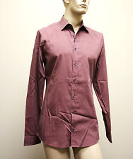 $510 NEW Authentic GUCCI Mens Cotton/Silk Dress Shirt 42/16.5 Slim 269067 5079