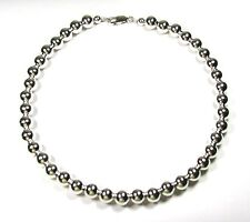 Sterling Silver Bead (10 mm) Necklace 18""