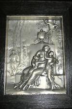 * Altes Reliefbild , Zinnbild , Metallbild - Motiv-Römerepoche *