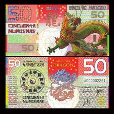 Kamberra 50 Numismas, China Lunar Year 2012,  Polymer, UNC Dragon