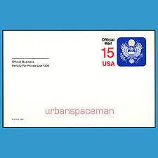 UZ4 15c Official Mail Postal Card Mint
