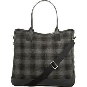 The Men's Store Mens Gray Wool Blend Plaid Travel Tote O/S BHFO 1002