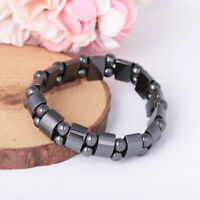 Magnetic Hematite Bracelet Pain-Relief Powerful Elastic Therapy Arthritis Unisex
