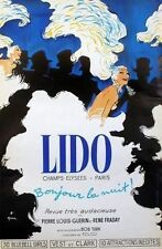 "Original French Poster ""Lido"" on Linen"