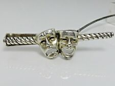 Vintage Fenwick & Sailors Sterling Silver Tie Bar Tragedy & Comedy F & S