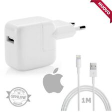 Caricabatteria Originale Apple Alimentatore Rapido A1401 +Cavo MD818 Per iPhone