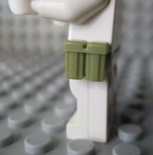 Custom AMMO POUCH  2 pc lot For Lego Minifigures -Olive Green- Army WW2 Military