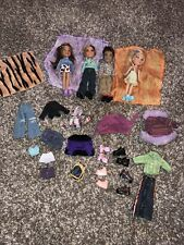 2000s Vintage Bratz Dolls Boyz Lot 4 Dolls Clothes Shoes Bag