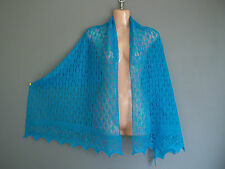 Super soft baby alpaca/silk blend lace shawl / scarf col: PERSIAN TEAL