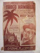Partition Tango Hawaien Michel Roger Orchestre Jacques Hélian