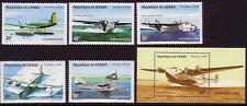 Aviation Congolese Stamps