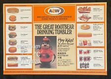 vintage Singapore A&W Family Restaurant paper placemat root beer bottle