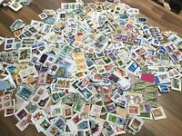 World / Foreign stamps on clipped down paper. Kiloware. FREE UK POSTAGE #E3