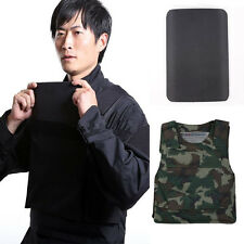 Bullet Proof Vest Concealable Ballistic Body Armor Aramid Core Steel Panel Black