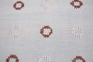 Vintage Tischdecke Tafeldecke  beige-braun 130 x 160  cm  Kreuzstich