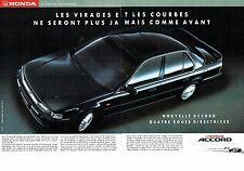 PUBLICITE ADVERTISING 017  1990  Honda ( 2pages)  la nouvelle Accord F1