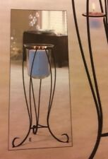 Newport Candle Stand with glass Hurricane Partylite Retired and Rare