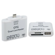 5 in 1 Micro USB 2.0 OTG Adapter+Micro SD TF MMC Card Reader for Smart Phone
