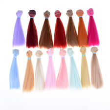 15Cm Length High-Temperature Material Natrual Color Thick Wigs Doll Hair_cd