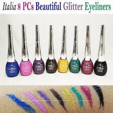 Italia Deluxe Dazzling Eyeliners- Full Set of 8 Colors *Glitter Liquid Eyeliners