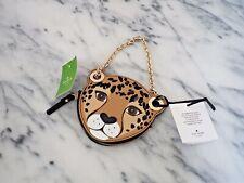 Kate Spade New York Leopard Coin Purse Run Wild Black Jewel MSRP $119 New Tags