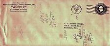GEORGE WASHINGTON 1937 1-1/2 Cent Brown Embossed Envelope Scott #U481