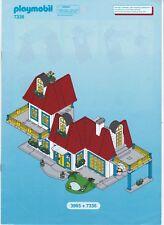 Playmobil Bauanleitung Bauplan Aufbau-Anleitung für Set 7336