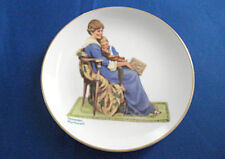 """Vintage Rockwell 1984 Collector Plate """"Bedtime"""" Rockwell Museum 6.5"""""""