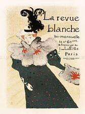 Pubblicità Rivista Revue Blanche Tolosa LAUTREC Parigi France poster art bb1886a