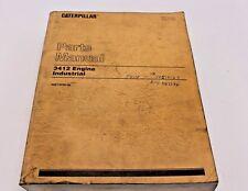CAT Caterpillar 3412 Engine Industrial Parts Manual