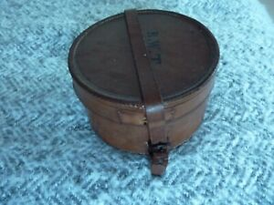 VINTAGE LEATHER REEL OR STORAGE BOX