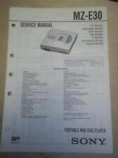 Sony Service Manual~MZ-E30 Minidisc Player~Original~Repair