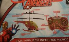 New World Tech Toys WTT34890 Marvel IR Helicopter LED Lights - Iron Man  drones