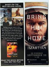 MATT DAMON THE MARTIAN  FILM BOOKMARKS  X 2