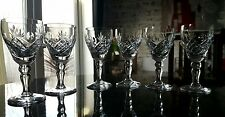 Set of 6 stunning Royal Brierley Crystal sherry Glasses. Handcut  661