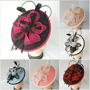 Pillbox Feather Headband Clip Hat Fascinator Wedding Ladies Day Race Royal Ascot