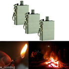 3PCS Metal Flint Match Lighter Outdoor Camping Hiking Survival tool Fire Starter