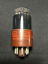 TUNG SOL (Fordum Label) 6SL7GT Black Glass Brown Base VACUUM TUBE Tested #B.7663