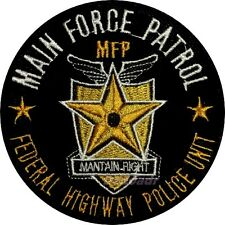 MAD MAX Embroidered Patch Main Force Patrol Shield Road Warrior Interceptor MFP