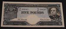 1960 Coombs / Wilson Australian Five Pound Banknote / TD 02 - £5 aUncirculated
