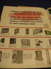 American Standard Radiator Boiler Asbestos 1938 HVAC Catalog