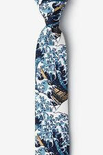 Men's Hipster The Great Wave Off Kanagawa Hokusai Skinny Narrow Tie Necktie