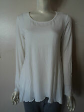 MIRACLEBODY BY MIRACLESUIT CREAM WHITE TRAPEZE BODY SHAPING TOP SIZE S NWT