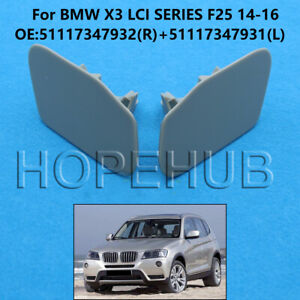 Left+ Right Side Headlight Washer Cover Fit BMW X3 LCI F25 2014-2016