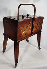 Antiker Art Deco Nähkasten Utensilienbox Nussbaum Nähkästchen antique sewing box