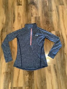 Under Armour Xs Womens Long Sleeved 1/4 Zip Top Loose Fitting